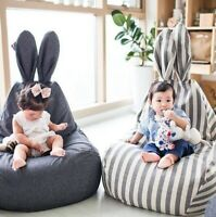 Kids Bean Bag Chair Sofa Lazy Seat lounger Rabbit couch living room Kids filled