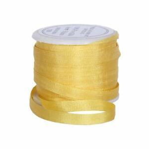 Threadart 100% Pure Silk Ribbon - 4mm Sun Gold - No. 666-3 Sizes - 50 Colors