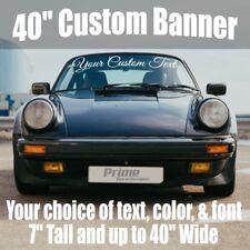 "7"" x 40"" Custom Car Windshield Window Vinyl Decal Banner Sticker"
