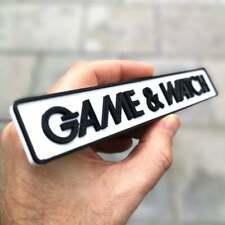 Nintendo Game & Watch logo fridge magnet/shelf display - Retro Video Games Logo