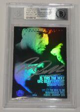 Bas Rutten Signed 2010 Topps Main Event UFC 18 Fight Posters Card Beckett COA 20