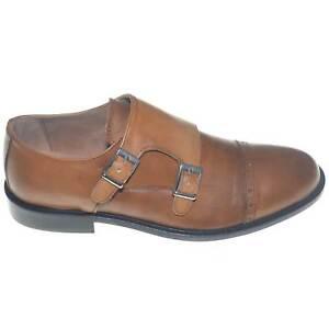 scarpe uomo eleganti doppia fibbia moda classica giovanile vera pelle spazzolato