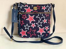 NEW! TOMMY HILFIGER NAVY BLUE STARS MESSENGER CROSSBODY SLING BAG PURSE $69 SALE