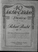 Robert Pracht - 40 leichte Etüden für Violine Op. 15
