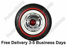 "15"" Add-On Black Red Wall Portawalls Tyre Insert Trim SET OF 4 VW BUG Beetle"