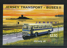 Jersey 2008 Historic Buses ss-Attractive Transportation Topical (1317a) Mnh