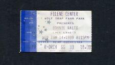 1989 Bonnie Raitt Lyle Lovett Concert Ticket Stub Nick of Time Wolf Trap VA