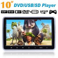 """HDMI 10"""" Auto DVD Player Kopfstützen Headrest Digital Monitor USB/SD/MMC/IR/FM"""