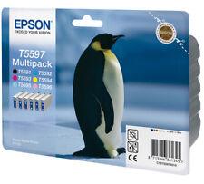 GENUINE AUTHENTIC EPSON T5597 INK CARTRIDGE MULTIPACK C13T55974010