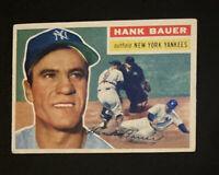 1956 TOPPS #177 HANK BAUER NY YANKEES