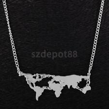 Vintage Charm Unique Globe World Map Pendant Chain Necklace Jewelry Gift