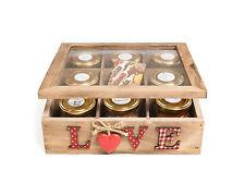 LEGNO SPICE BOX - 8 handmade Spice unioni & Masala Chai TEABAGS