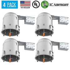 4 PACK 6-INCH REMODEL CAN AIR TIGHT IC UL RECESSED HOUSING LED POT LIGHTING
