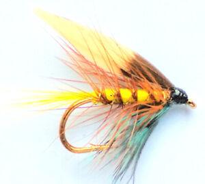 STUNNING QUALITY!! 6 x CORIXA GOLDHEAD TROUT FISHING FLIES SIZE 10