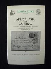 Robson Lowe Subasta catálogo 1982 África Asia América con Nueva Guinea