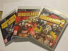 3 PLAYSTATION 3 PS3 Jeux Borderlands The Pre-Sequel! + Bl 1/I & BL 2/II PAL