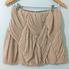 Cameo The Label C/MEO Collective Georgette Mini Skirt Women's Size M Ruched Sand
