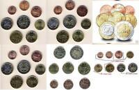 KMS 8 coin euro sets  AUSTRIA CYPRUS FINLAND GREECE PORTUGAL SPAIN IRELAND UNC