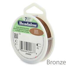 Beadalon 7 Strand BRONZE Beading Flex Wire 30ft ~ Choose Size