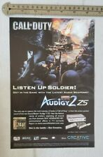 Call Of Duty Audigy 2 RARE Print Advertisement