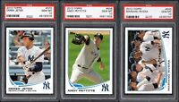 (3) CARD LOT 2013 Topps #373 DEREK JETER HOF New York Yankees PSA 10 GEM MINT