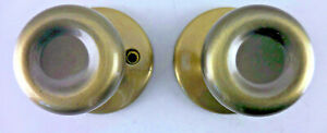 Kwikset Tylo Passage Antique Brass KNOBS ONLY #7l4
