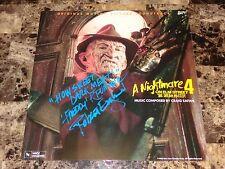 Nightmare On Elm Street SIGNED Dream Master Freddy Krueger Vinyl Soundtrack LP