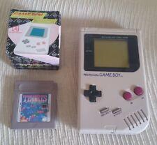 Gameboy Nintendo Original Game Boy Classic + Charger + Tetris Game - Working