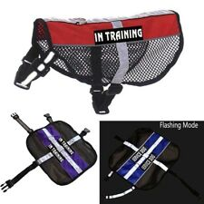 Reflective Service Dog Harness Mesh Vest Pet Coat Therapy with Removable Patches