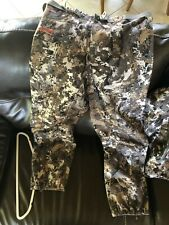 sitka downpour pants large elevated ii