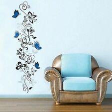 Wall Sticker Decorative  Home Flower Vines Butterflies Decals House Murals Decor