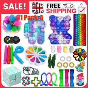 31 Pack Fidget Toys Set Sensory Tools Bundle Stress Relief Hand Kids Adults Toy