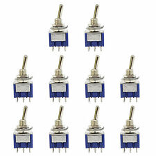 10 x 6 Pin DPDT ON-ON 2 Position 6A 250VAC Mini Toggle Switches MTS-202 US Stock