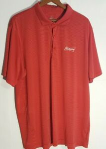 Page & Tuttle Cool Swing Budweiser Embroidered Men's Golf Polo Sz 2XL VGUC