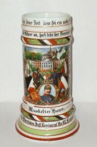 Antiguo Jarra de Reservista Ir 167 Kassel Krug Cerveza Hesse Alsacia Chopes Wk