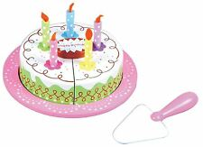 Lelin Wooden Birthday Party Cream Cake Pretend Play Role Play Set for Children