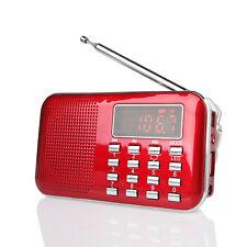 Portable AM/FM Transistor Radio MP3 Player TF carte USB Flash Lumière rouge