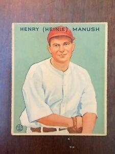 1933 Goudey  #107 Henry (Heinie) Manush