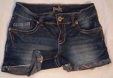 "Jade Jeans Womens Size 3/4  Jean Short Shorts Dark Wash 3"" Inseam Frayed Hem EUC"