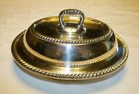 Vintage GORHAM Silverplate Electroplate 9 inch Oval Covered Dish