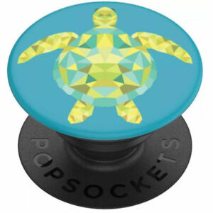 PopSockets PopGrip - Expanding Stand and Grip with Swappable Top - Geo Turtle