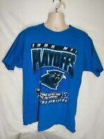 Vintage Carolina Panthers 1996 NFC Division Champs Pro Player T-shirt Men's L