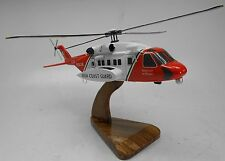 S-92 Sikorsky Irish Coast Guard S92 Helicopter Wood Model Free Shipping Regular