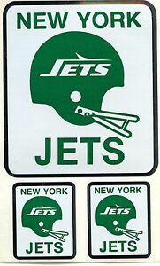 NEW YORK JETS VINTAGE TEAM ISSUED STICKER / STICKERS DECAL 1980'S MINT