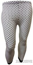 Womens Plus Size Printed Cropped Lace Leggings Stretch Leggings