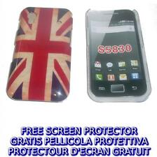 Pellicola+custodia BACK COVER UK FLAG VINTAGE per Samsung Galaxy Ace S5830