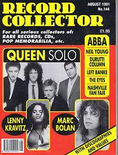 QUEEN / MARC BOLAN / LENNY KRAVITZ / ABBA Record Collector no. 144 Aug 1991