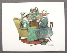 Vintage 1970's Norman Rockwell Gaily Sharing Vintage Times Four Seasons Print 2