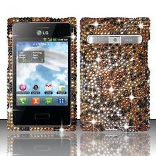 For LG Optimus Logic L35G Dynamic L38G Crystal BLING Hard Case Cover Cheetah