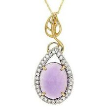 9.70ctw Diamond and Amethyst Necklace 14k Solid Yellow Gold